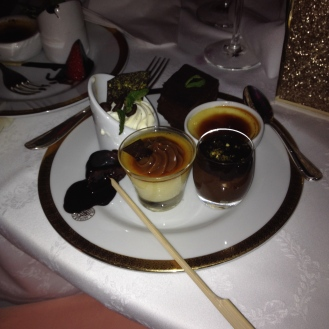 Desserts with cake.