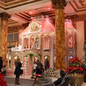 Real Gingerbread house at the Fairmont!